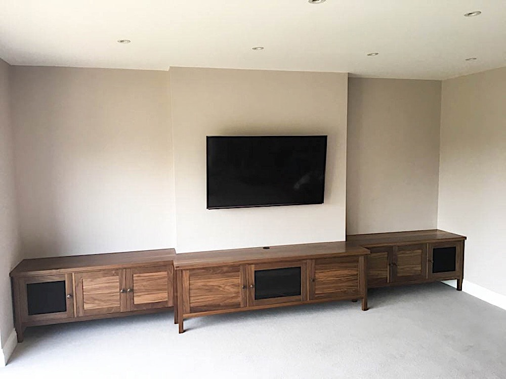 Walnut lounge unit