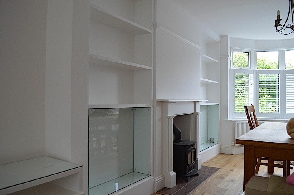 White painted lounge unit